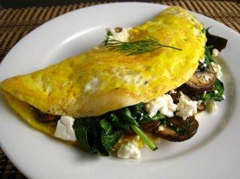 špenátová omeleta