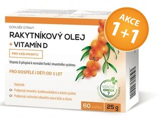 Rakytníkový olej + Vitamín D