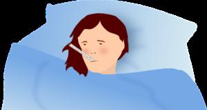 Nemocná v posteli